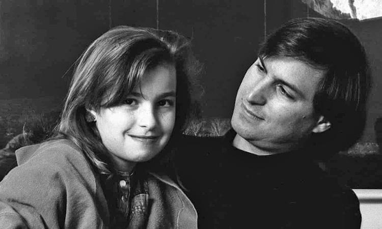استیو جابز و دخترش لیزا
