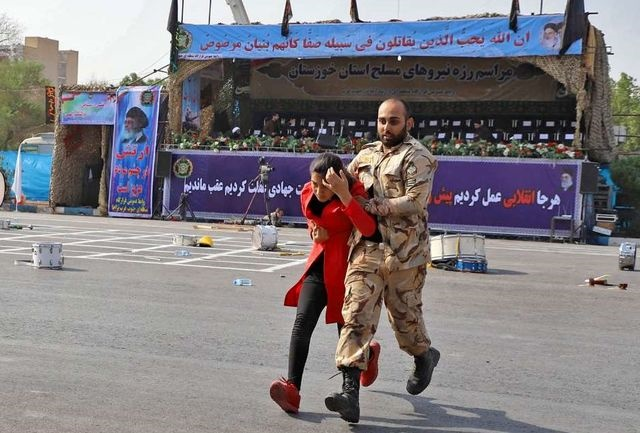 نوشته سردار کمالی درباره سرباز فداکار حادثه تروریستی اهواز