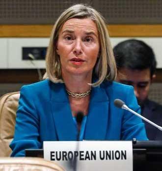 فدریکا موگرینی: اتحادیه اروپا با کانال مالی جدید تحریمهای ایران را دور میزند