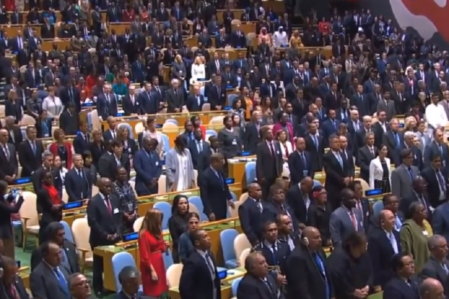 مجمع عمومی سازمان ملل به احترام عنان ایستاد