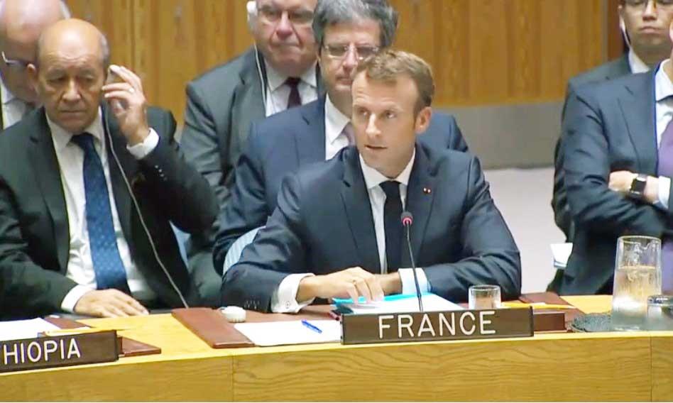 مکرون در نشست شورای امنیت: برجام یک توافق جدی است ؛ همه طرفها رعایت کنند