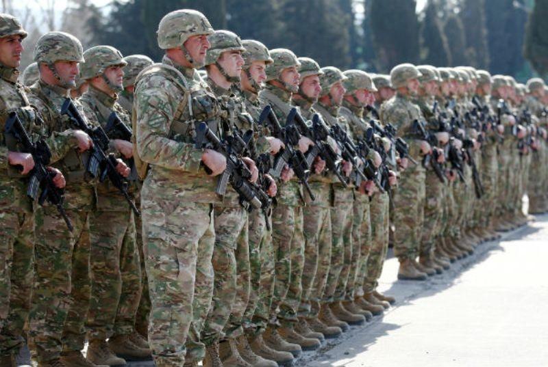 یک گردان تازه نفس از نیروهای گرجستان راهی افغانستان شد