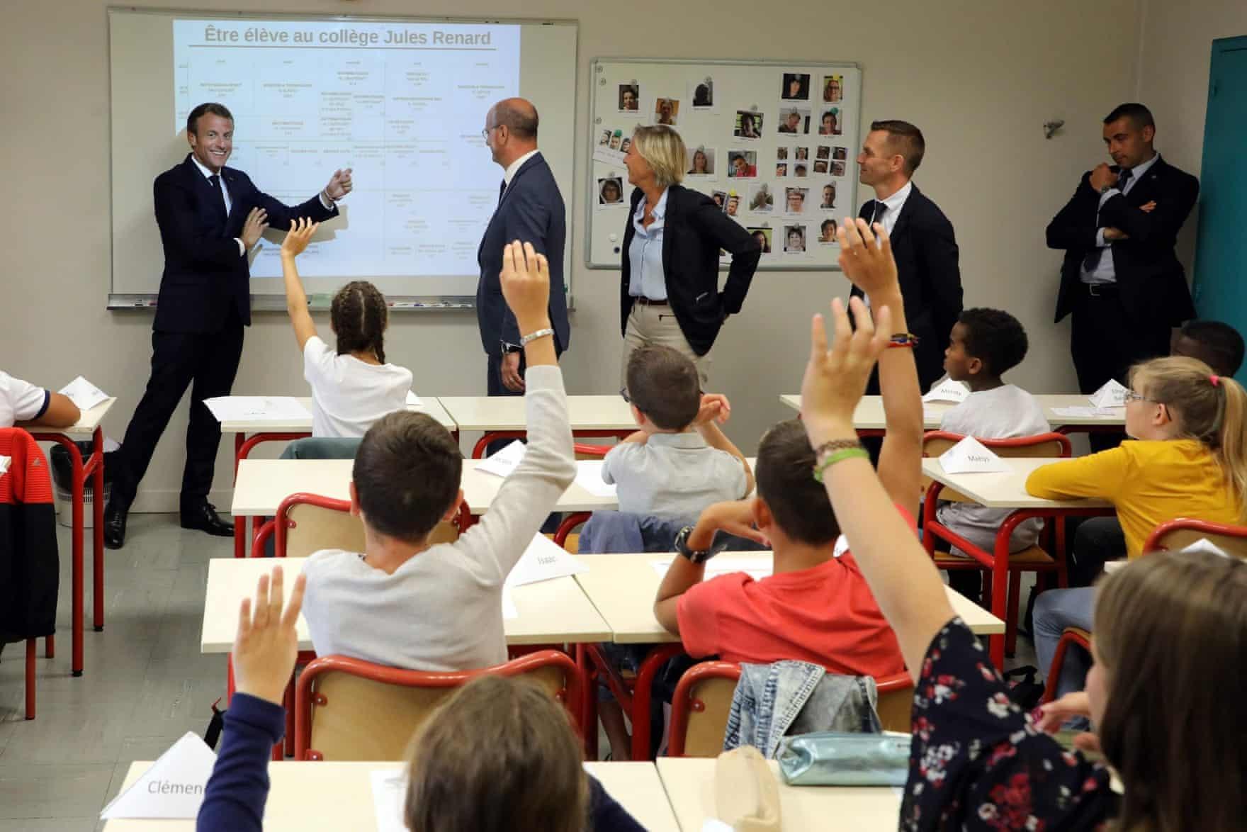 عکس روز: مکرون در کلاس