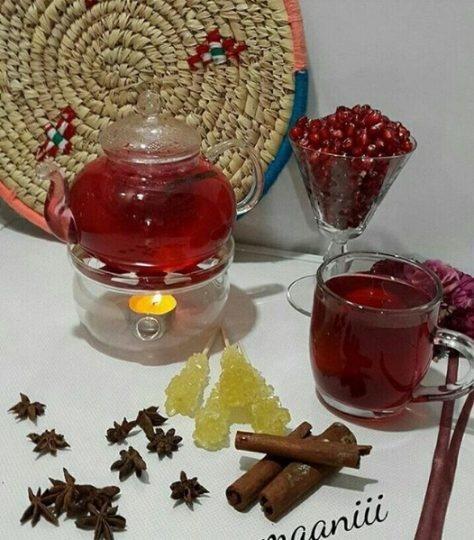 آشنایی با روش تهیه چای انار
