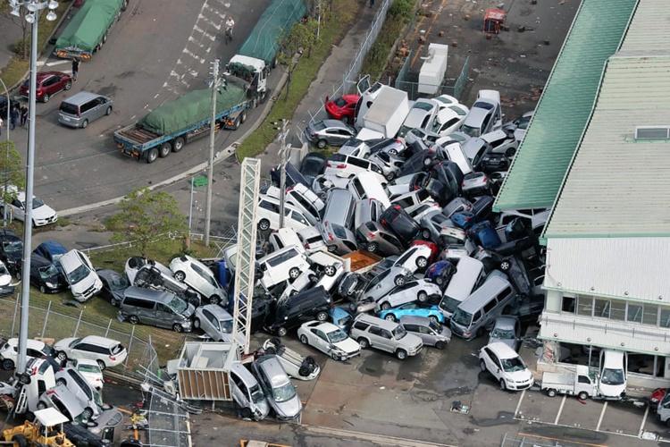 عکس | خسارات طوفان سهمگین جبی در ژاپن
