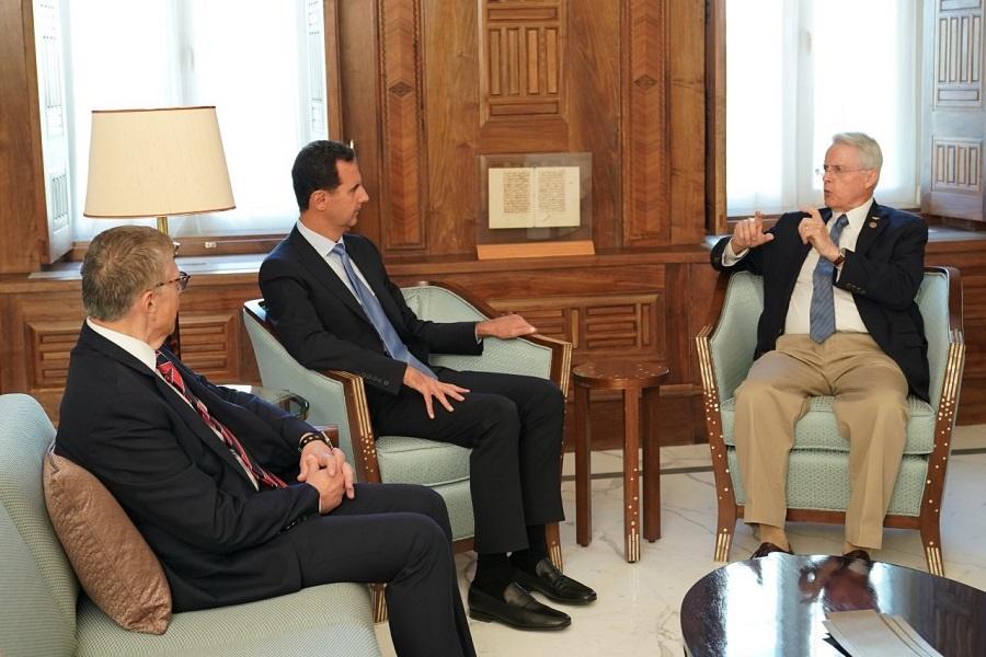 اسد: اعمال تحریم و حمایت از تروریسم سیاست آمریکا است