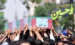 تشییع پیکر مطهر ۱۳۵ شهید دفاع مقدس در تهران
