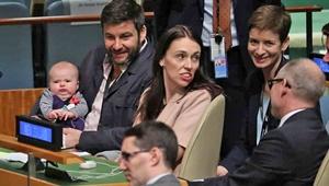 تاریخسازی نوزاد سه ماهه خانم نخستوزیر | کوچکترین مهمان سازمان ملل