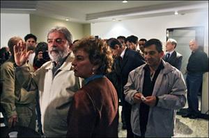 رئیس جمهور برزیل در جمع داغدیدگان سانحه