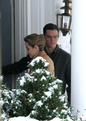آنجلیکا جولی و مت دیمون در صحنهای از فیلم چوپان خوب