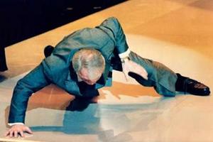 پالانس د رمراسم اسکار 1992 یکدستی شنا میرود