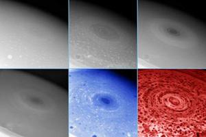 تصاویر برداشته با طول موجهای مختلف از توفان مشتری