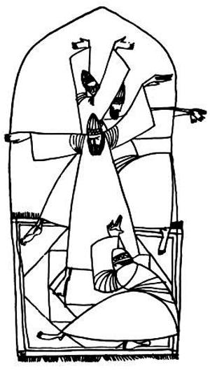 طرح مرتضی ممیز برای قصه«خر برفت و خر برفت»