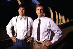 جابز(چپ) و اسکولی(راست)؛ این دو نفر چند سال بعد مقابل هم قرار گرفتند