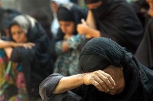 زنان عزادار در شهر اسلامپور در شرق هند-تمال روی/آسوشیتدپرس