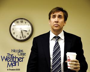 فیلم هواشناس (The Weather Man) محصول سال 2005 . نیکلاس کیج در این فیلم یک هواشناس است که بعضی مواقع پیشبینیهایش غلط از آب درمیآید و مردم به اوتخم مرغ و گوجهفرنگی پرت میکنند. او به خاطر کارش مشکلات خانوادگی زیادی دارد. این فیلم چند هفته قبل از سینما یک پخش شد.