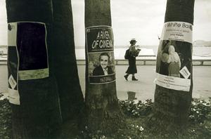 پوستر فیلم بادکنک سفید – آنتونیونی و پوستر سیاه شده یک فیلم غیراخلاقی