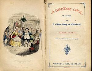 صفحه اول سرود کریسمس نوشته چارلز دیکنز