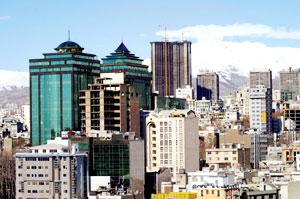 ازدحام بناها در تهران