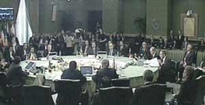 اجلاس سران کشورهای حاشیه خزر سهشنبه با سخنرانی دکتر احمدی نژاد آغاز به کار کرد