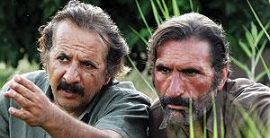مجید مجیدی در کنار تنها بازیگر شناختهشده فیلمش رضا ناجی