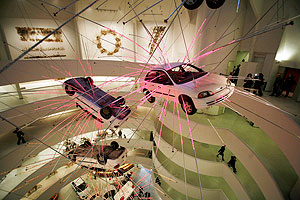 """Artist Cai Guo-Qiang's installation """"Inopportune: Stage One"""","""