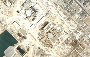 تصویر ماهواره ای از راکتور بوشهر