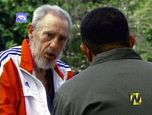 فیدل کاسترو در گفت و گو با هوگو چاوز
