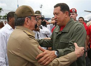 بدرقه از چاوز در فرودگاه خوسه مارتی