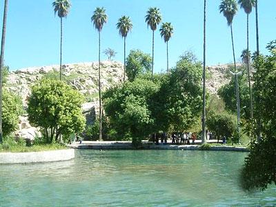 Iranian gardens - bagh-e Chesh-me Belqeis Cheram