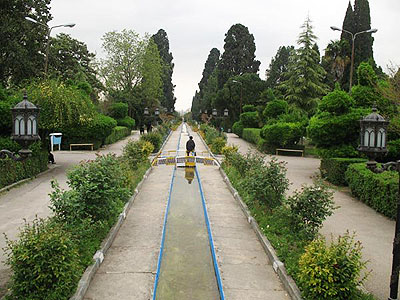 Iranian gardens - bagh-e Chehelsotone Ashraf (Divankhane) - Mazandaran