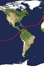 خط قرمز، یکی از پررفت و آمدترین خطوط کشتیرانی جهان است که از کانال پاناما میگذرد