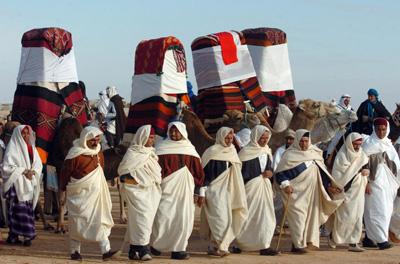 مراسم ازدواج سنتی در افتتاحیه جشنواره