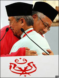 Mr Najib replaced the moderate and largely ineffective Abdullah Badawi