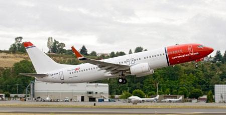 Norwegian Air Shuttle Boeing 737-800 (Boeing photo)