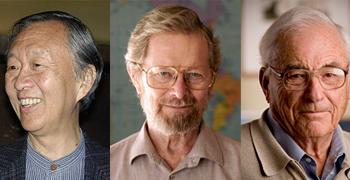 برندگان جایزه نوبل فیزیک 2009- از راست به ترتیب اسمیت - بویل - کائو