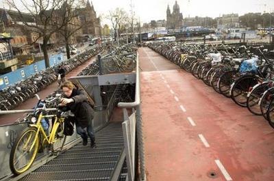 هلند بهشت دوچرخه سواران