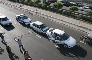 صحنهای از برنامه حادثهسواران در بزرگراه یادگار امام