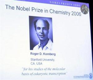 زاجر کورنبرگ برنده جایزه نوبل شیمی