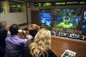 همسران فضانردان در ایستگاه کنترل مامریت در روسیه