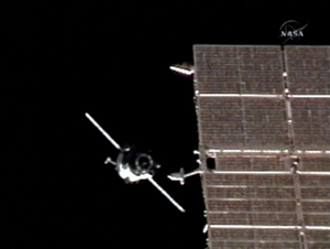 سایوز به ایستگاه فضایی نزدیک میشود